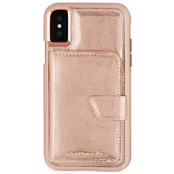 Case-Mate Compact Mirror Case suits iPhone X Rose Gold
