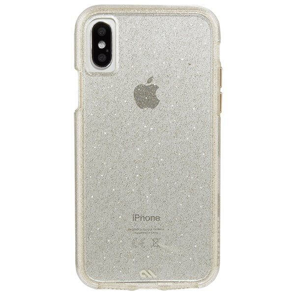Case-Mate Sheer Glam Case suits iPhone X Champagne