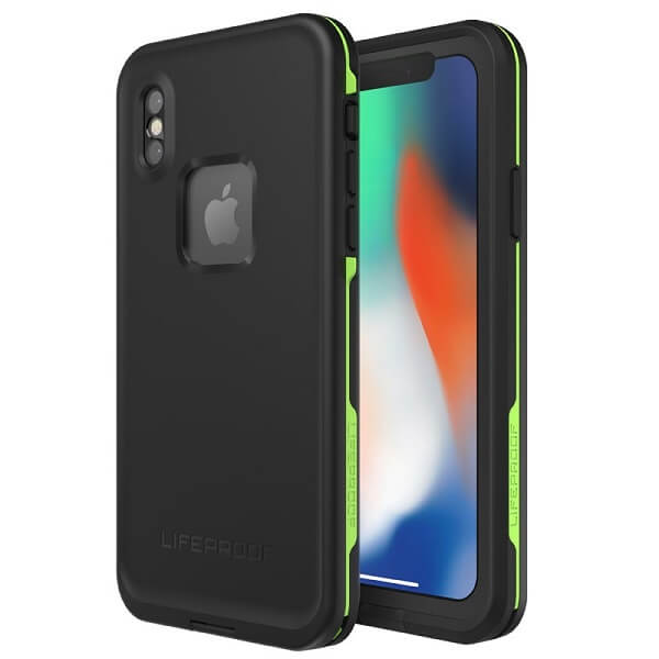 LifeProof Fre Case suits iPhone X Black/Lime