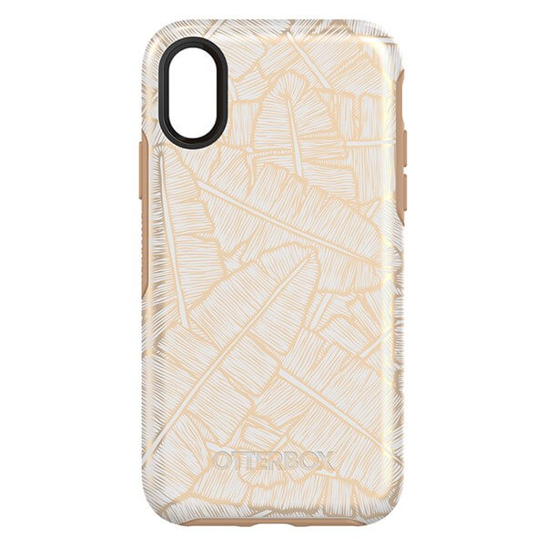 OtterBox Symmetry Case suits iPhone X White Roasted Tan