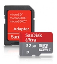 Sandisk Micro SD Ultra 32 GB Memory Card