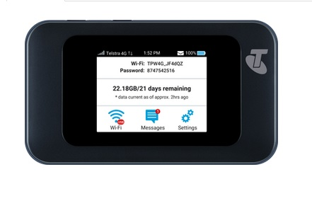 Telstra 4GX Hotspot ZTE MF985T