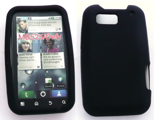 Motorola Defy Plus MB526  Silicon Case Black