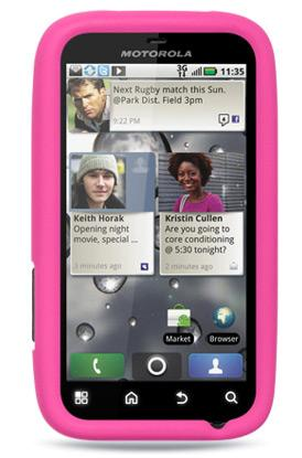 Motorola Defy Plus MB526  Silicon Case Pink