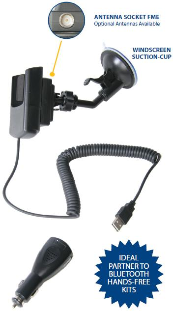 Nokia 6120 Car Cradle Charger and Patch Lead