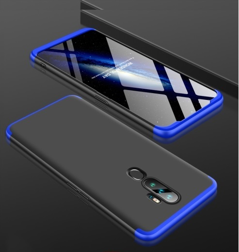 Oppo A5 2020 3 Stage Coverage Case Black Blue