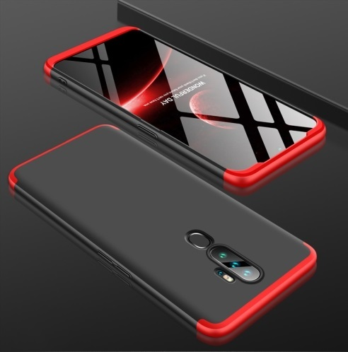 Oppo A5 2020 3 Stage Coverage Case Black Red