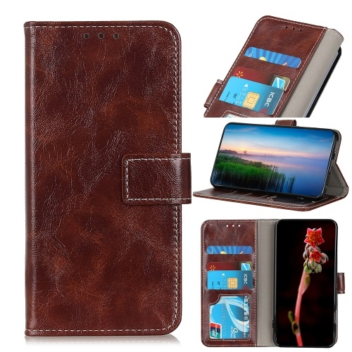 Oppo A53s Wallet Case Brown