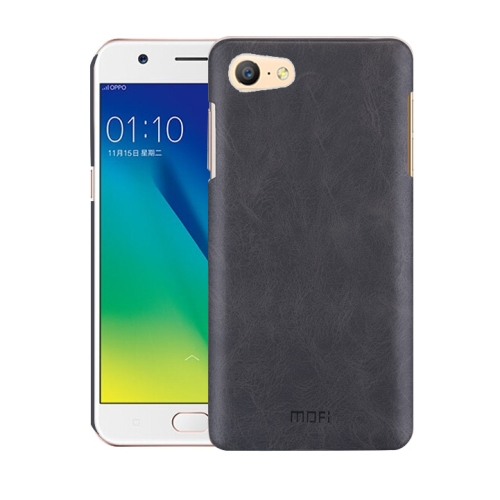 Oppo A57 Leather Texture Case Black