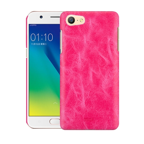 Oppo A57 Leather Texture Case Magenta