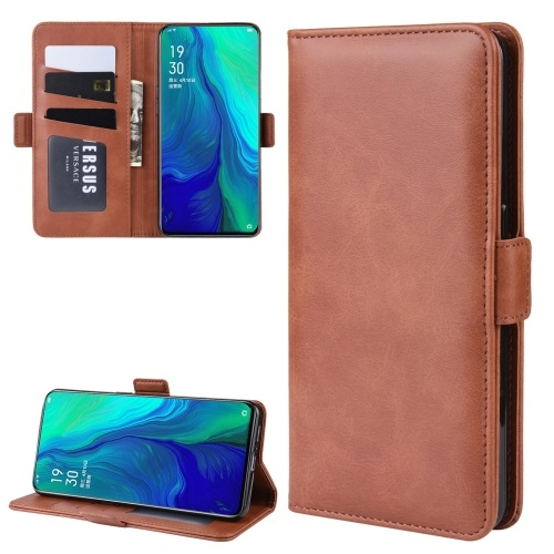 Oppo Reno 10x Zoom PU Leather Case Brown