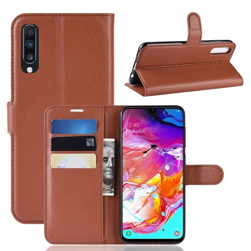 Samsung Galaxy A70 PU Leather Case Brown