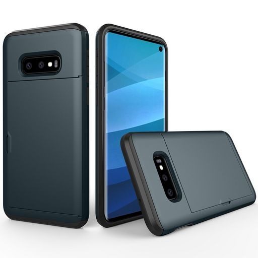 Hard Shell Case With Card Holder For Samsung Galaxy S10e Navy