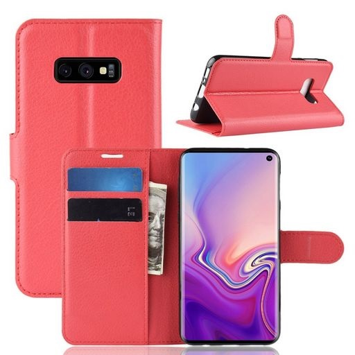 PU Leather Case For Galaxy S10e Red