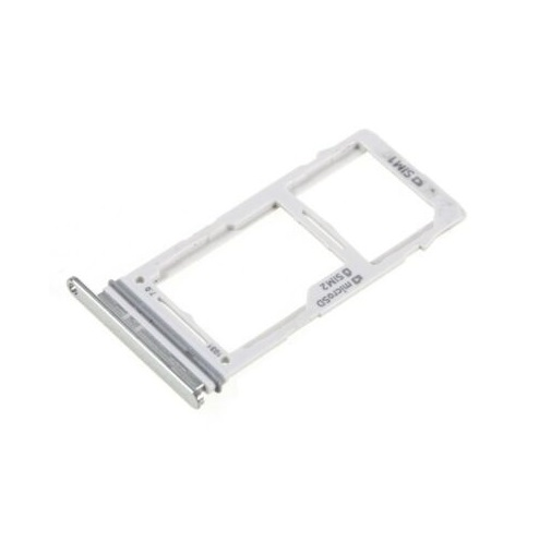 SIM Card Tray With Micro SD Card Tray for Galaxy S10+ / S10 / S10e Silver