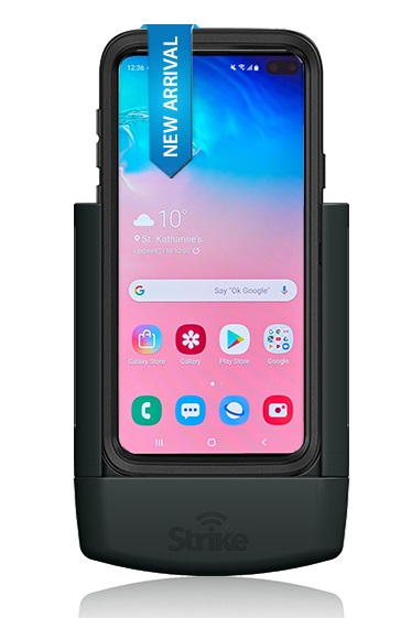 Strike Alpha Samsung Galaxy S10 Plus Car Cradle For OtterBox Defender Case Professional Install