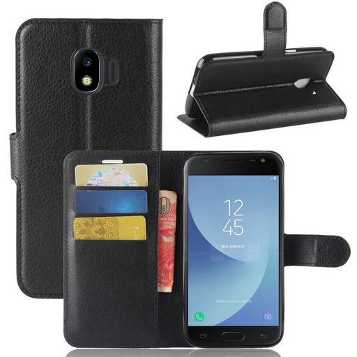 Samsung Galaxy J2 Pro Wallet Case Black