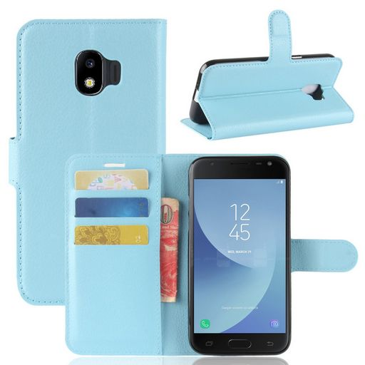 Samsung Galaxy J2 Pro Wallet Case Blue