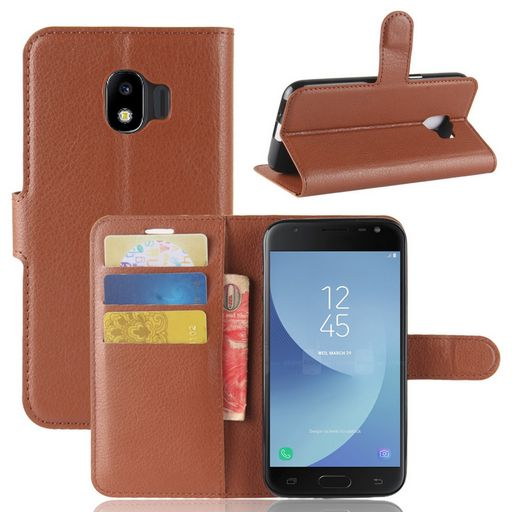 Samsung Galaxy J2 Pro Wallet Case Brown