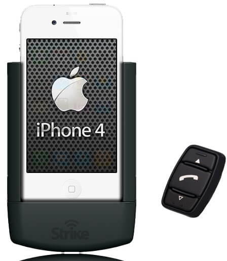 Strike Alpha Cradle for iPhone 4 and 4S And Strike iK-1 Bluetooth Unit