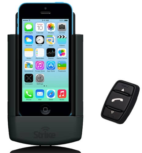 Strike Alpha Cradle for iPhone 5C And Strike iK-1 Bluetooth Unit